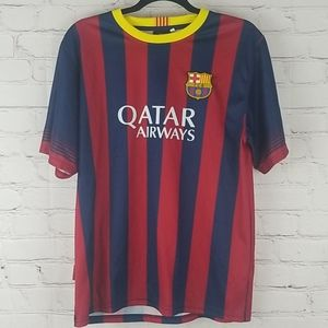Messi Qatar Airwaves FCB Jersey size medium
